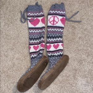 Victoria Secret PINK Sweater Sock Slippers